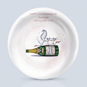 Champagne D´Amour Anniversary Charger