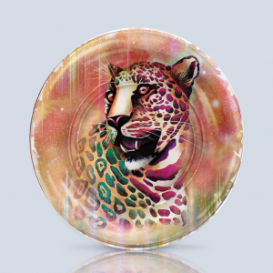 Product; Charger Plate. Name; Colombian Jaguar. By; Recylica