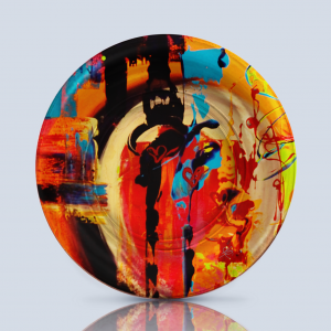 Product; Charger Plate. Name; El Guardian del Tiempo C3. By; María Clara Villamil