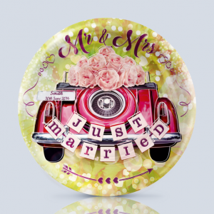 Product; Charger Plate. Name; Just Married Car. By; Recylica