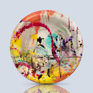 Product; Charger Plate. Name; Mi Fuego Interior C2. By; María Clara Villamil