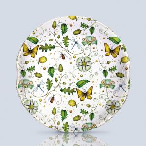 Acorns & Butterflies Serving Plate