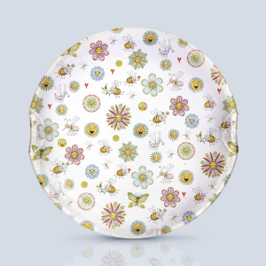 Flowers and Bees Serving Plate
